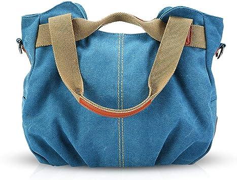 NICOLE&DORIS Bolsos para mujeres de Tela bolsos de hombro para mujer Bolso Hobo de Lona para Mujer