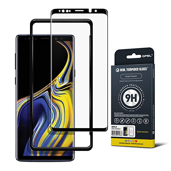 more photos 32b64 32b30 GPEL Screen Protector for Galaxy Note 9 Premium Japanese Asahi Tempered  Glass with Easy Installation, Case-Friendly, HD Clarity, Real Tempered  Glass, ...
