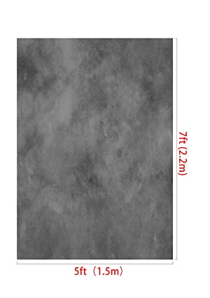 Kate 5ft(W) x7ft(H) Texture Portrait Photography Backdrops for Photographers Microfiber Black Abstract Old Master Photo Backdrop Professional Head Shots (Color: J06822, Tamaño: 5x7ft)