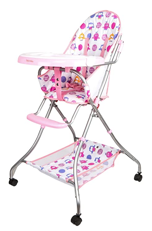 Tiffy And Toffee Baby Etiquette High Chair With Wheels (Blush Pink)