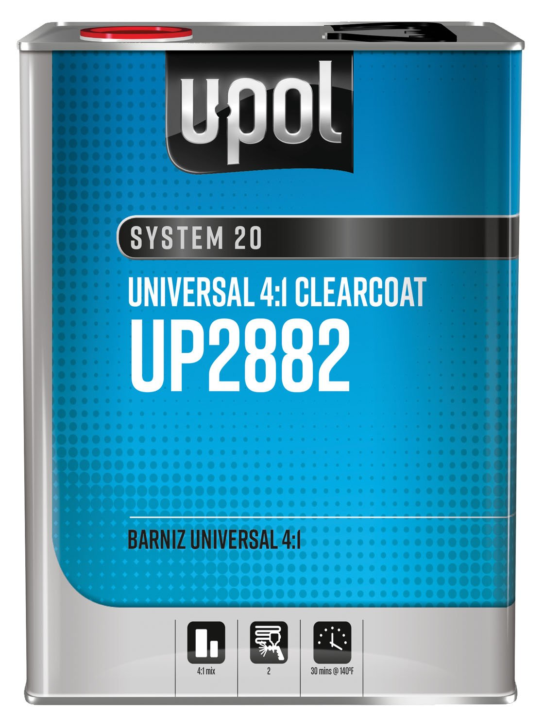 National Rule Clearcoats: 4:1 Universal Clearcoat, Clear, 8lbs by U-Pol