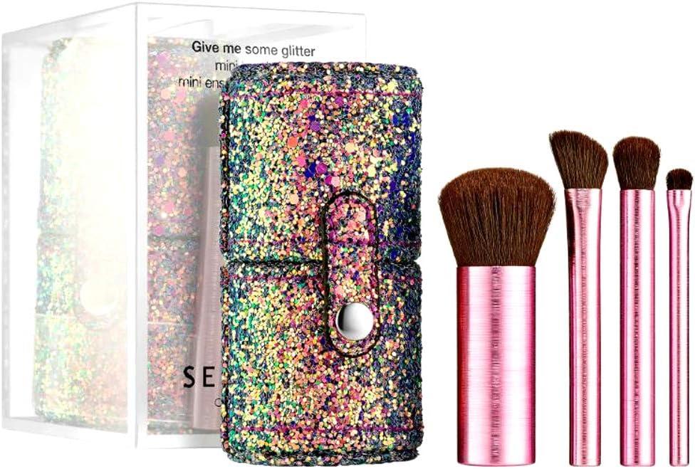 Sephora Collection Give Me Some Glitter - Juego de mini brochas (5 unidades): Amazon.es: Belleza