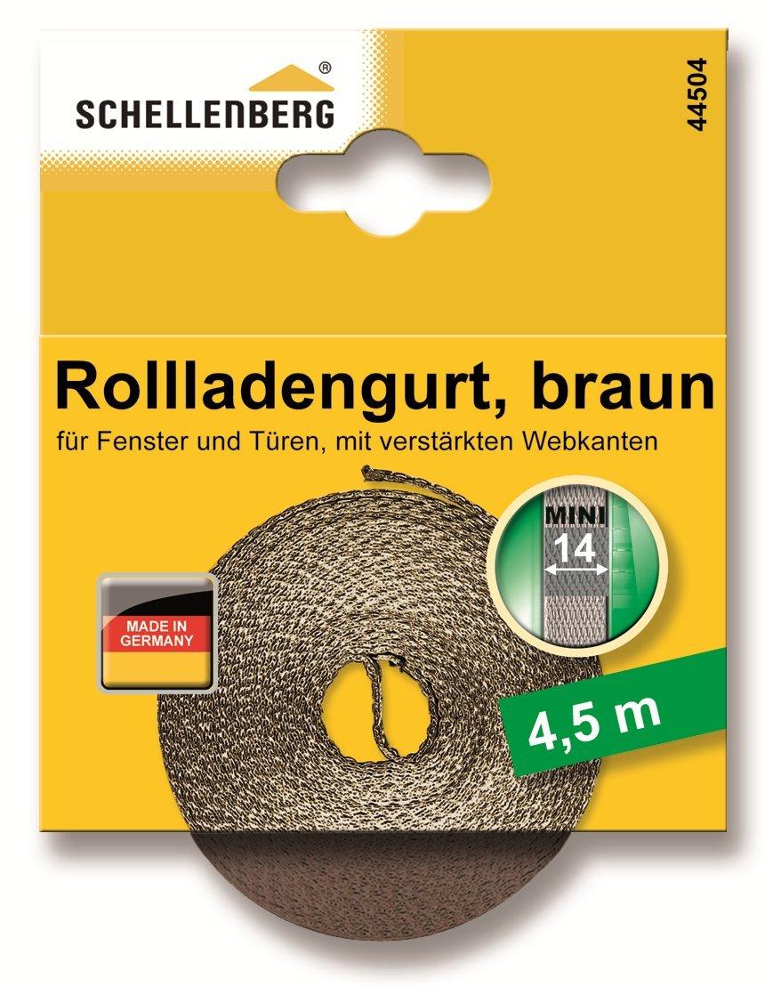 Schellenberg 46101 Cinghia per Avvolgibile Larghezza 14 mm Lunghezza 6 m Beige