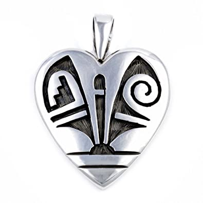 200 Retail Tag Heart Silver Authentic Handmade Hopi Native American