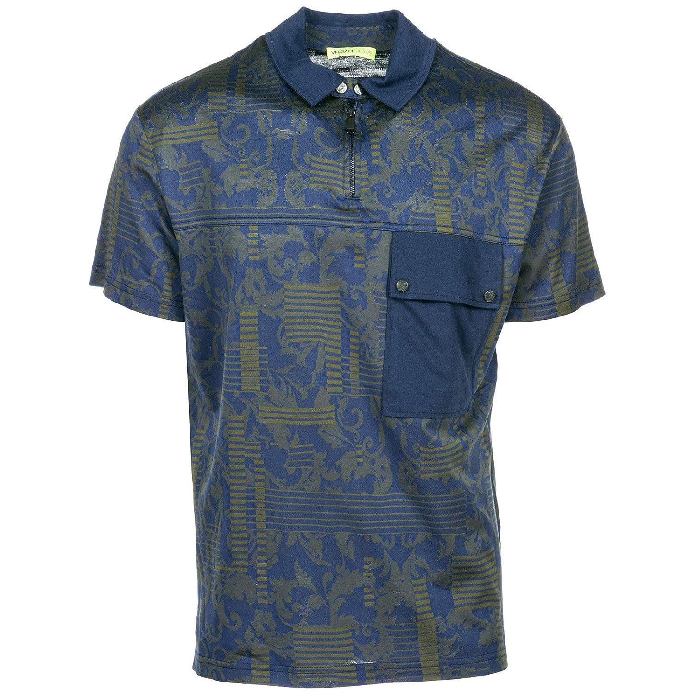Versace Jeans Polo Hombre BLU 48 EU: Amazon.es: Ropa y accesorios