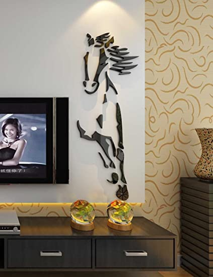 3d Running Horses Wall Murals for Living Room Bedroom Sofa Backdrop ...