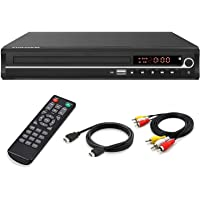 DVD Player,Foramor HDMI DVD Player for Smart TV Support 1080P Full HD with HDMI Cable Remote Control USB Input Region…