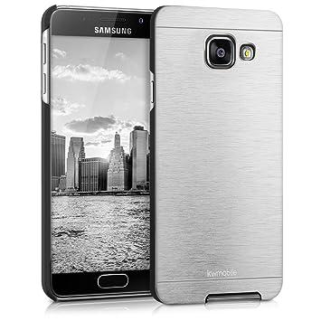 kwmobile Funda para Samsung Galaxy A3 (2016) - Carcasa Protectora de [Aluminio] para móvil - Case [Trasero] [Plata]