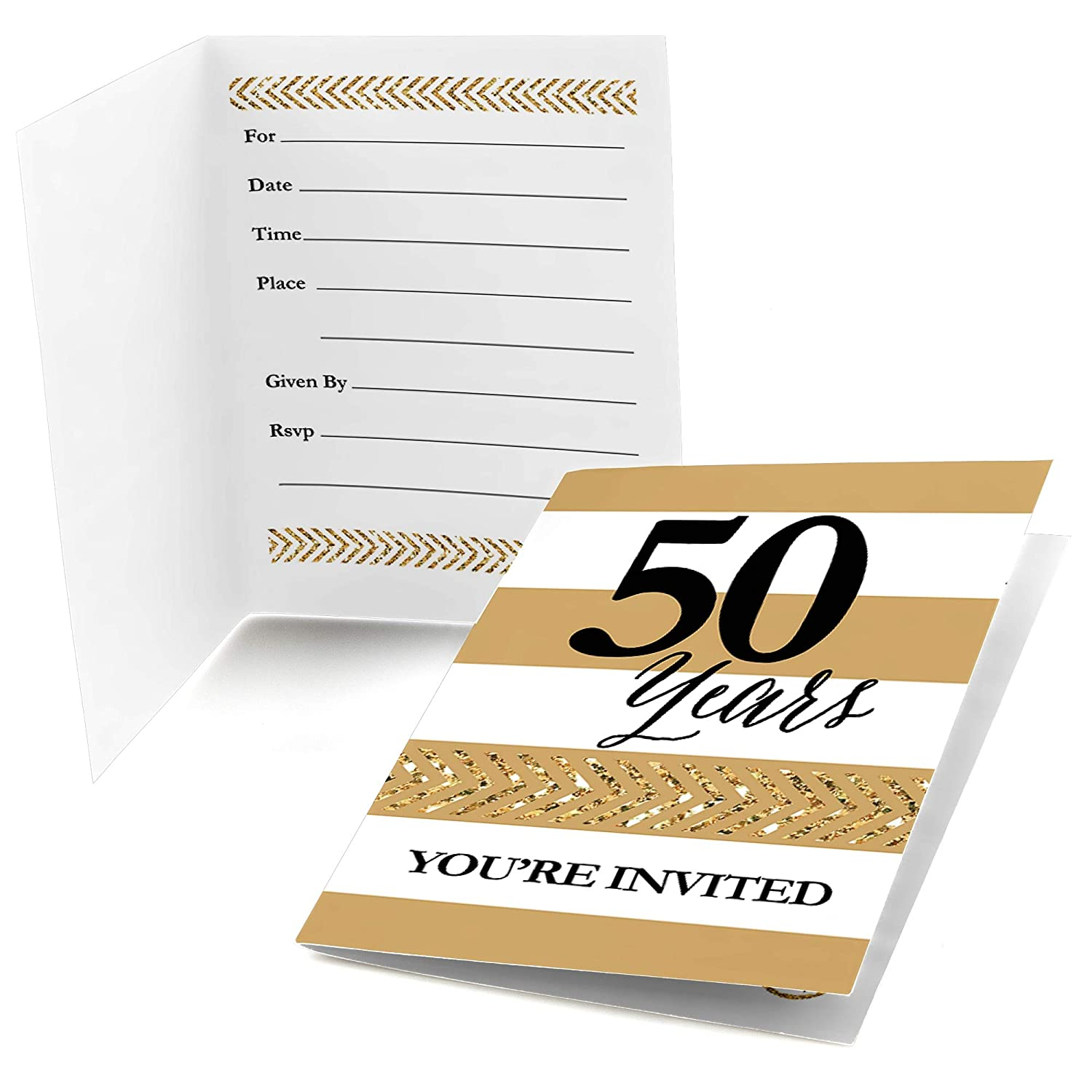 We Still Do 50th Wedding Anniversary Fill in Anniversary Party Invitations Set of 24