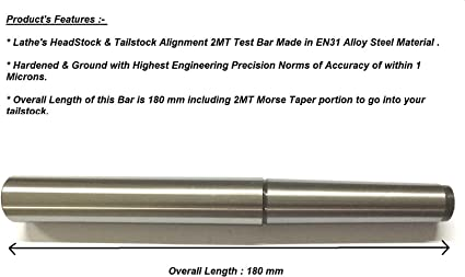 OAL 400mm 5 MT Precision Parallel Test Bar for Lathe Machine Head Alignment