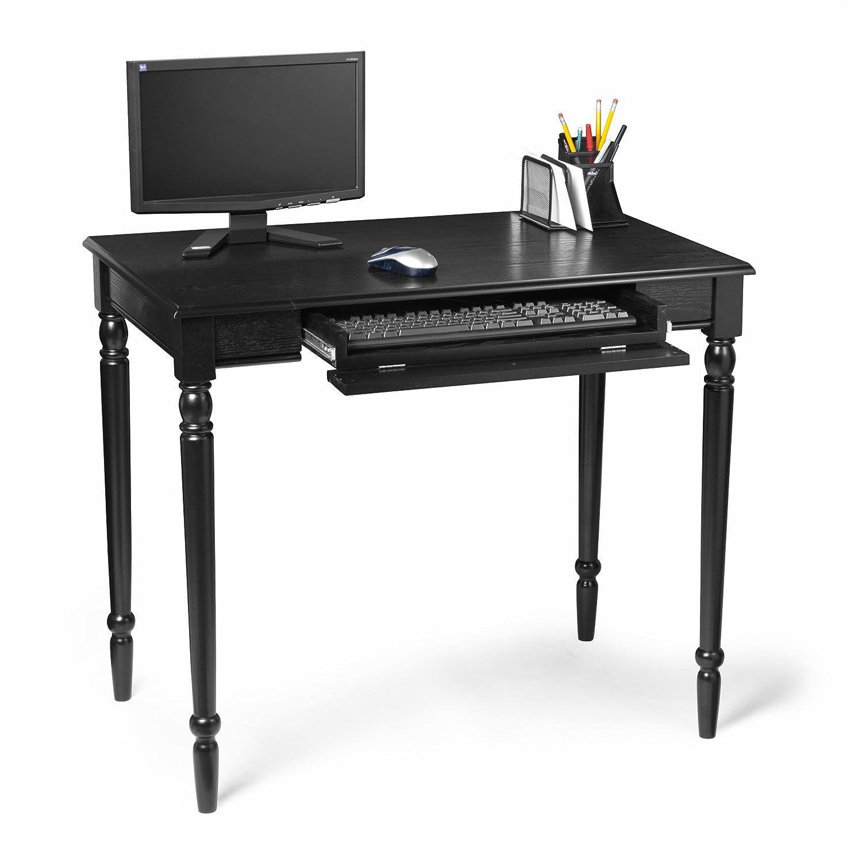 Delightful Black Table Desk Part - 9: Amazon.com: Convenience Concepts French Country Desk, 36-Inch, Black:  Kitchen U0026 Dining