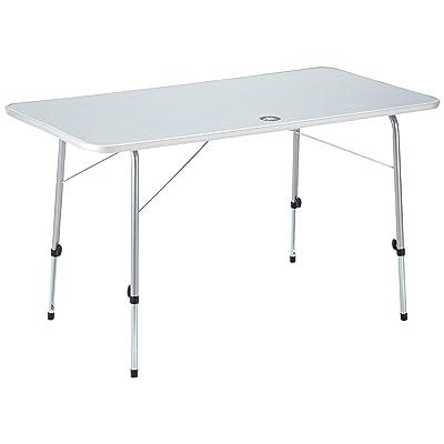 10T Flaprack Double Table de camping pliant Blanc/Argent 120 x 60 x 69 cm