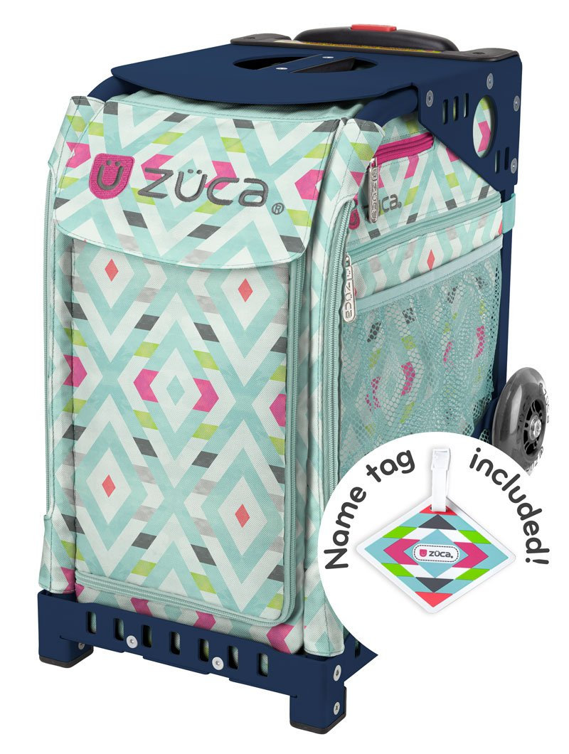Zuca Chevron Sport Insert Bag and Navy Blue Frame with Flashing Wheels by ZUCA (Image #7)