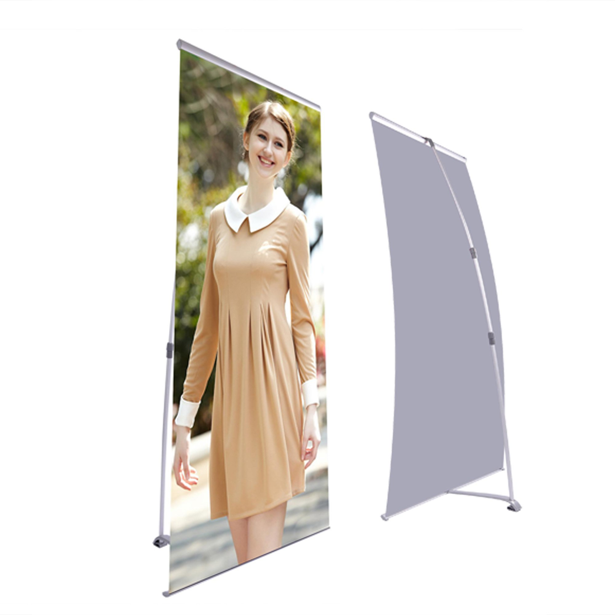 32''x36'' to 32''x83''Adjustable Telescopic Retractable L Type Banner Stand Display Trade Show Exhibition Height Adjustment