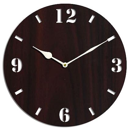 Studio Shubham Wooden wenge Wall Clock(26.5cm x 26.5cm x 3cm)