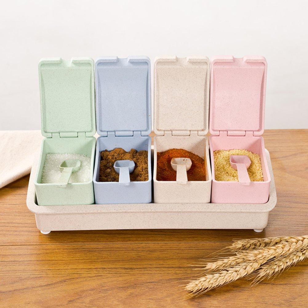Caja de condimentos cocina,Castor Tarro de la especia-A