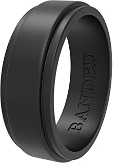 Amazon Com Thin Red Line Silicone Wedding Engagement Ring Band For