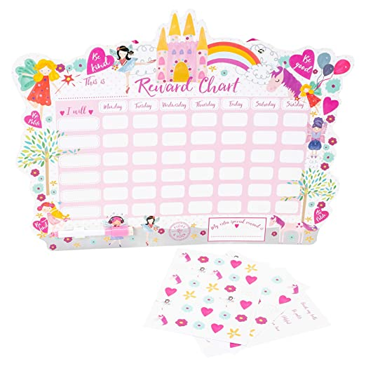 Amazon.com : Floss & Rock Reward Chart with Dry Erase Pen and Stickers (Monster) : Office Products