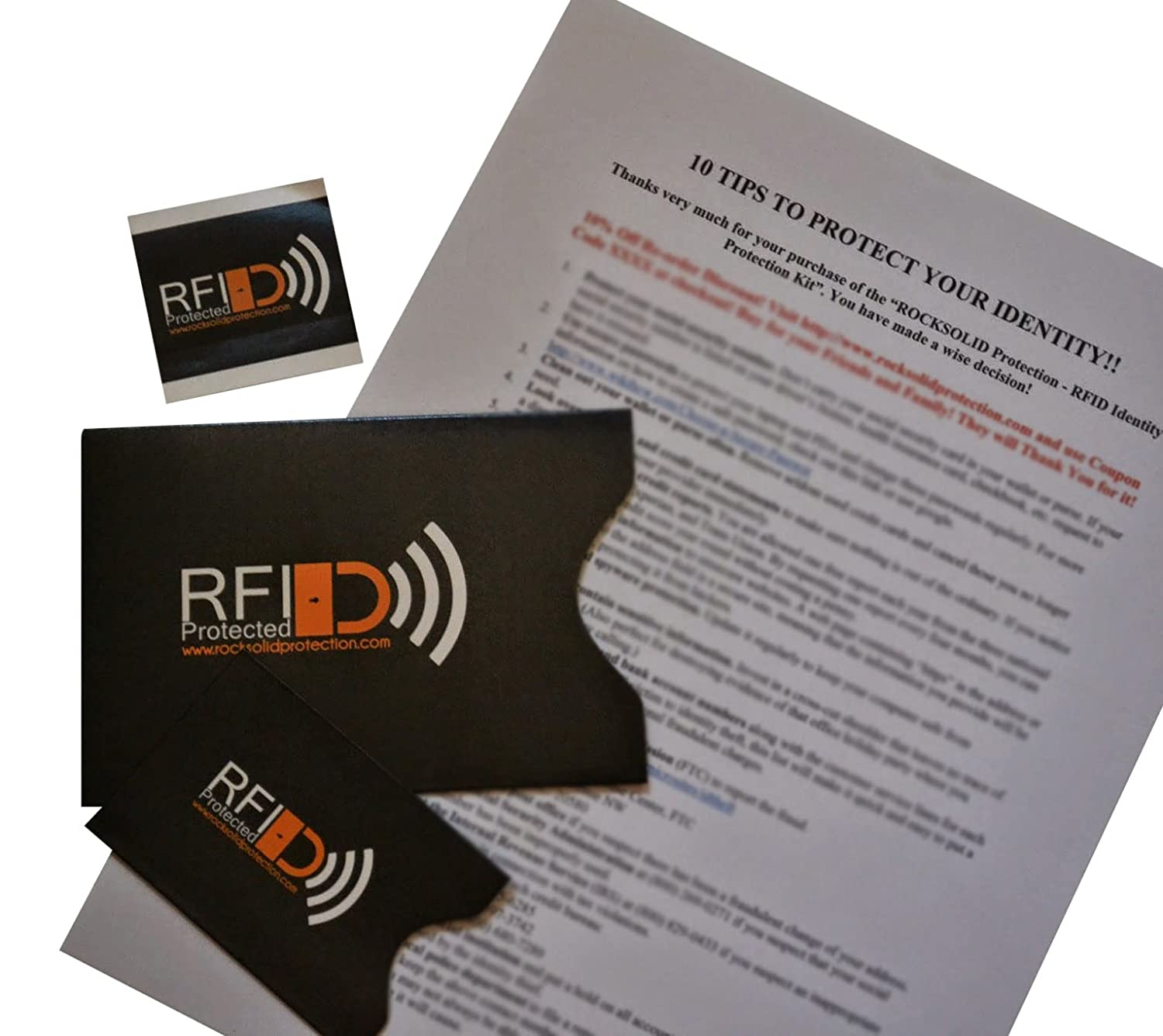 rfid credit card and passport identity protection kit