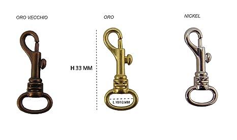 Moschettoni ad anello piccoli 10 mm12 mm per borse borselli