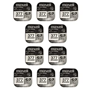 10 x Maxell SR626SW SR626 AG4 377 1.55v Watch Batteries