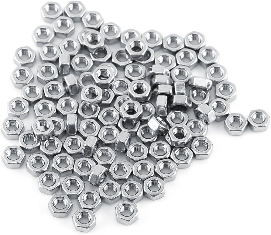 250 Pi/èces Kit De Dombinaison Vis Et /Écrou En acier Inoxydable Hexagonal En Acier M3 A2 A: Cap head