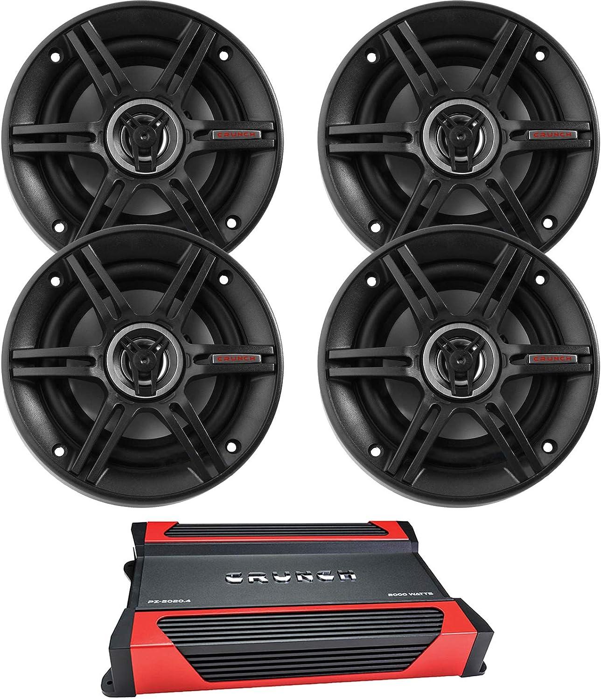 """NEW Crunch 5.25/"""" Coaxial Speaker 250w Max CS525CX"""