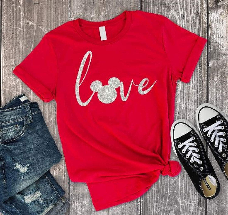 69b4902ff1cda Love Glitter Shirt For Women, Womens Unisex Shirt