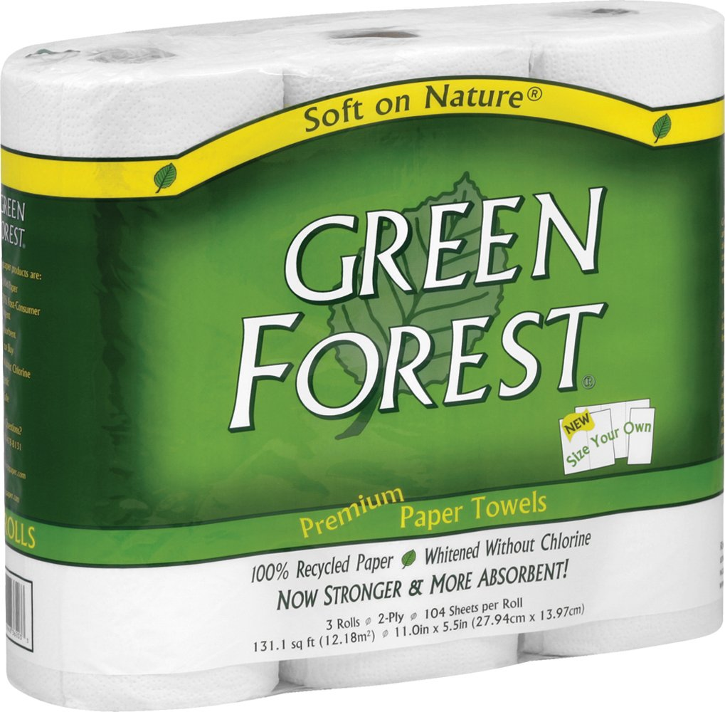 Green Forest Size Your Own Towels White 3 Count (Pack Of 10) 6