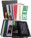 """35 Item Back to School Supplies - High School, Middle School Bundle - 1"""" Binder, Tabs, Pouch, Folders, Notebooks, Filler and Graph Paper, Ruler, Pens, Pencils, Eraser, Highlighters, Note Cards"""