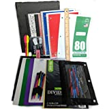 """35 Item Back to School Supplies - High School, Middle School Bundle - 1"""" Binder, Tabs, Pouch, Folders, Notebooks, Filler and"""