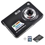Digital Camera,emee 2.7 inch TFT LCD Screen Anti-shake 8x Digital Zoom HD 720P 18 Mega Pixels CMOS Sensor Compact Video Camcorder [ Include SD Card , Battery and UK Adaptor] (Black)