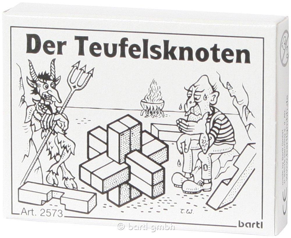 Bartl 102573 Mini-Holz-Puzzle Der Teufelsknoten aus 6 kleinen Holzteilen Bartl GmbH 123 Architektur