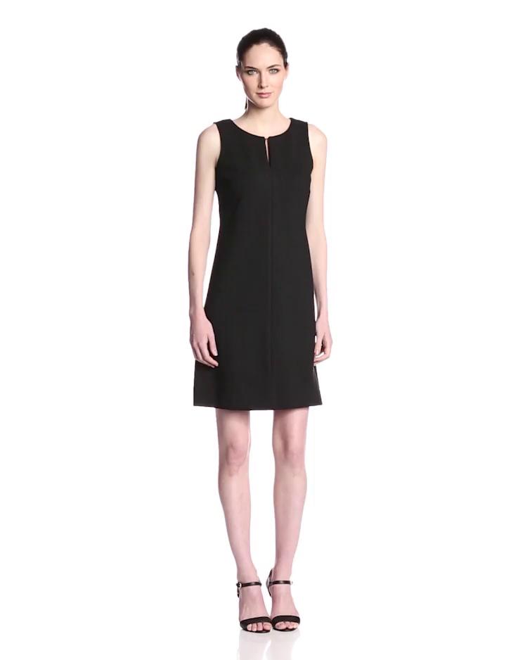 Taylor Dresses Women's Keyhole Shift Dress Black,2