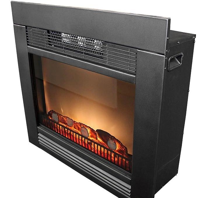 Bakaji - Chimenea eléctrica Chicago con marco de madera, 1800 W. Incluye mueble, diseño retro silencioso. Estufa de pared empotrada: Amazon.es: Bricolaje y ...