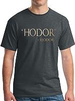 Adult Hodor Hodor Metallic Gold Quote T-Shirt