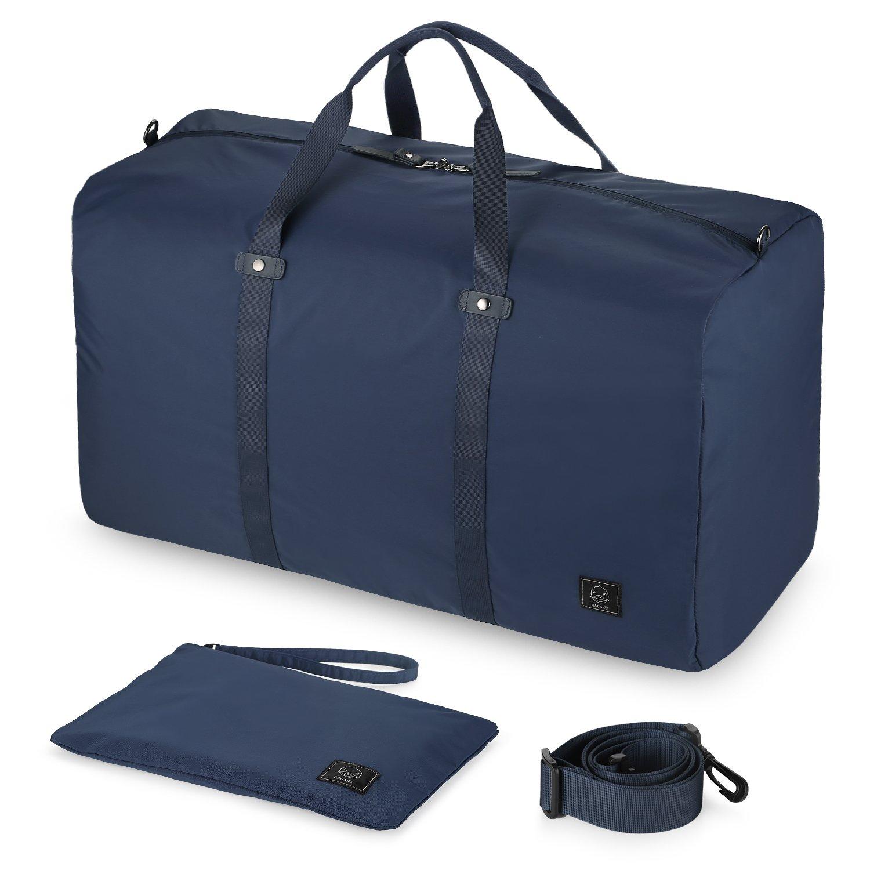 GAGAKU 45L Ultra Léger Sac de Voyage Imperméable Extra Grand Pliable Bagages pour Cabine Avion - Bleu