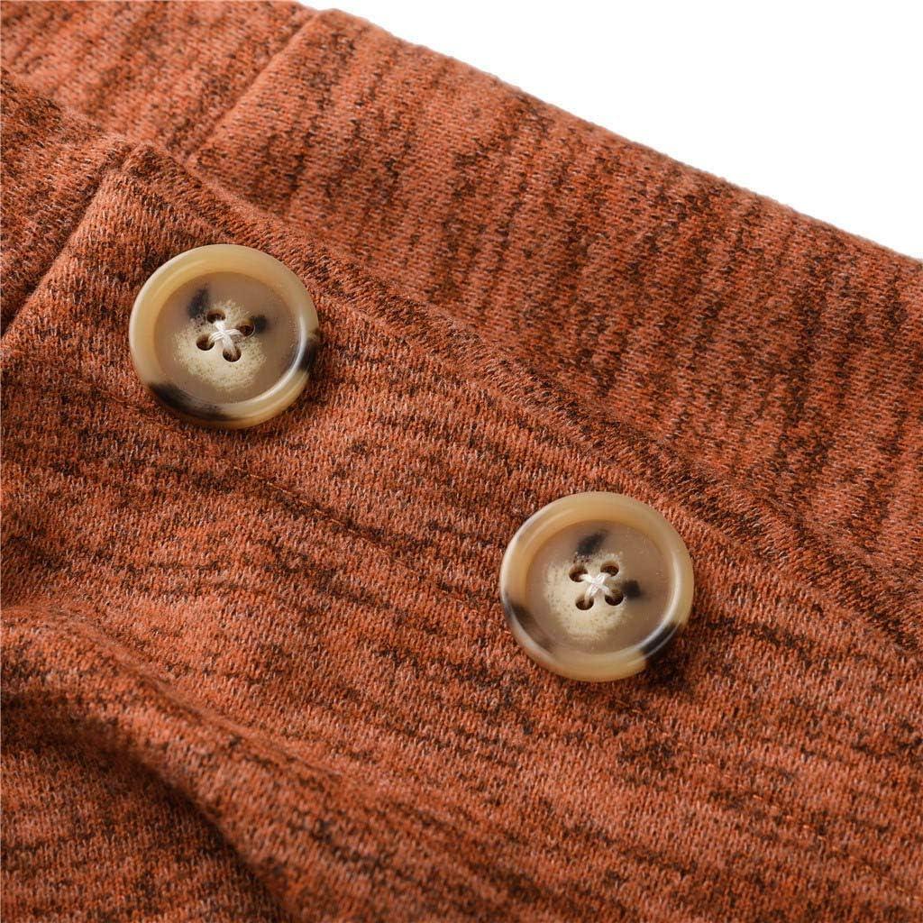 Hanican Womens Long Sleeve Tops Casual Turtleneck Sweatshirt Button Pullover