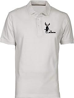 T-Shirtshock Polo Uomo Bianco FUN3104 Pee on Non Hunters