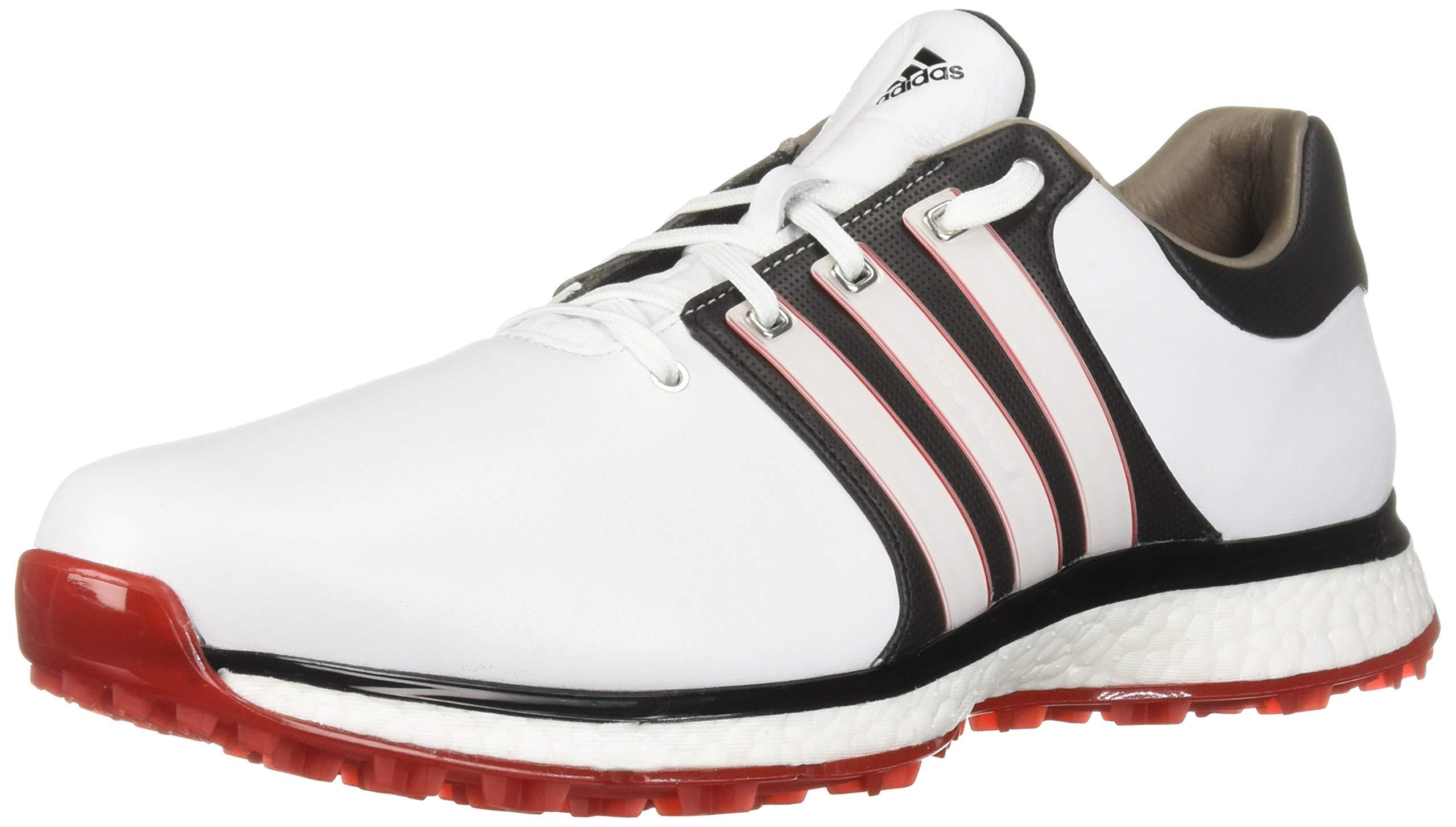adidas Men's TOUR360 XT Spikeless Golf Shoe, FTWR White/core Black/Scarlet, 7 M US
