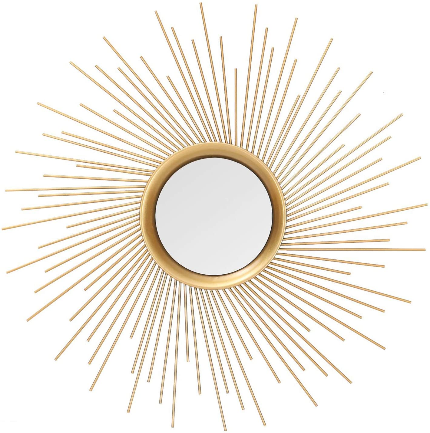 Asense Home Collection Sunburst Mirror, Classic Metal Decorative Wall Mirror