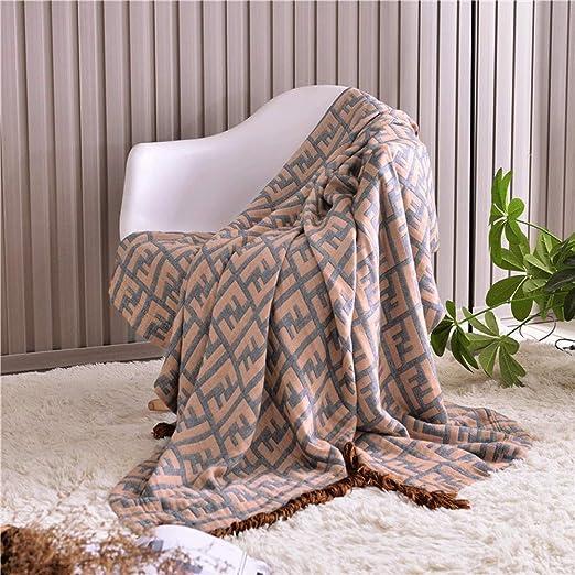 Manta de sofá Manta de Punto de algodón Manta de sofá Sofá Manta ...