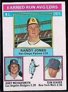 1974 MLB Baseball Card Topps Randy Jones Andy Messersmith Tom Seaver # 201 League Leaders