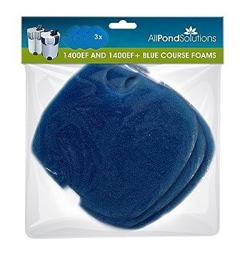 Todos Estanque Soluciones 1400ef y 1400ef + Acuario Filtro de pecera externo almohadillas media, azul: Amazon.es: Productos para mascotas