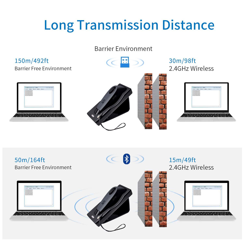 Matrice di dati USB wireless barcode scanner lettore di codice del telefono mobile Payment schermo del computer PC scanner R40-2D