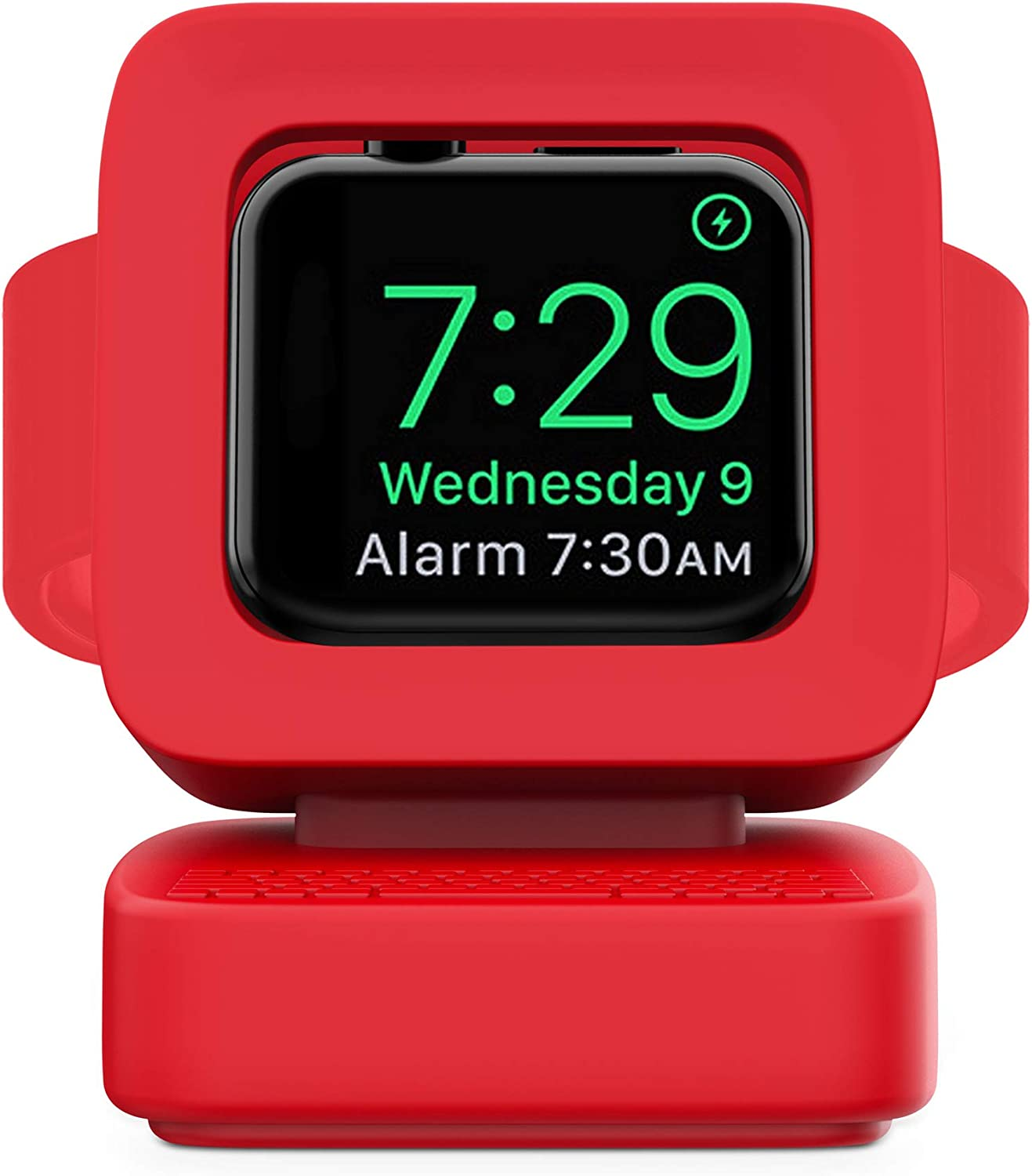 Stand for Apple Watch, YourLovely Charging Stand:Desk Watch Stand Holder Charging Dock Station Designed for Apple Watch Series SE/Series 6/5 / 4/3 / 2/1 / 44mm / 42mm / 40mm / 38mm Red