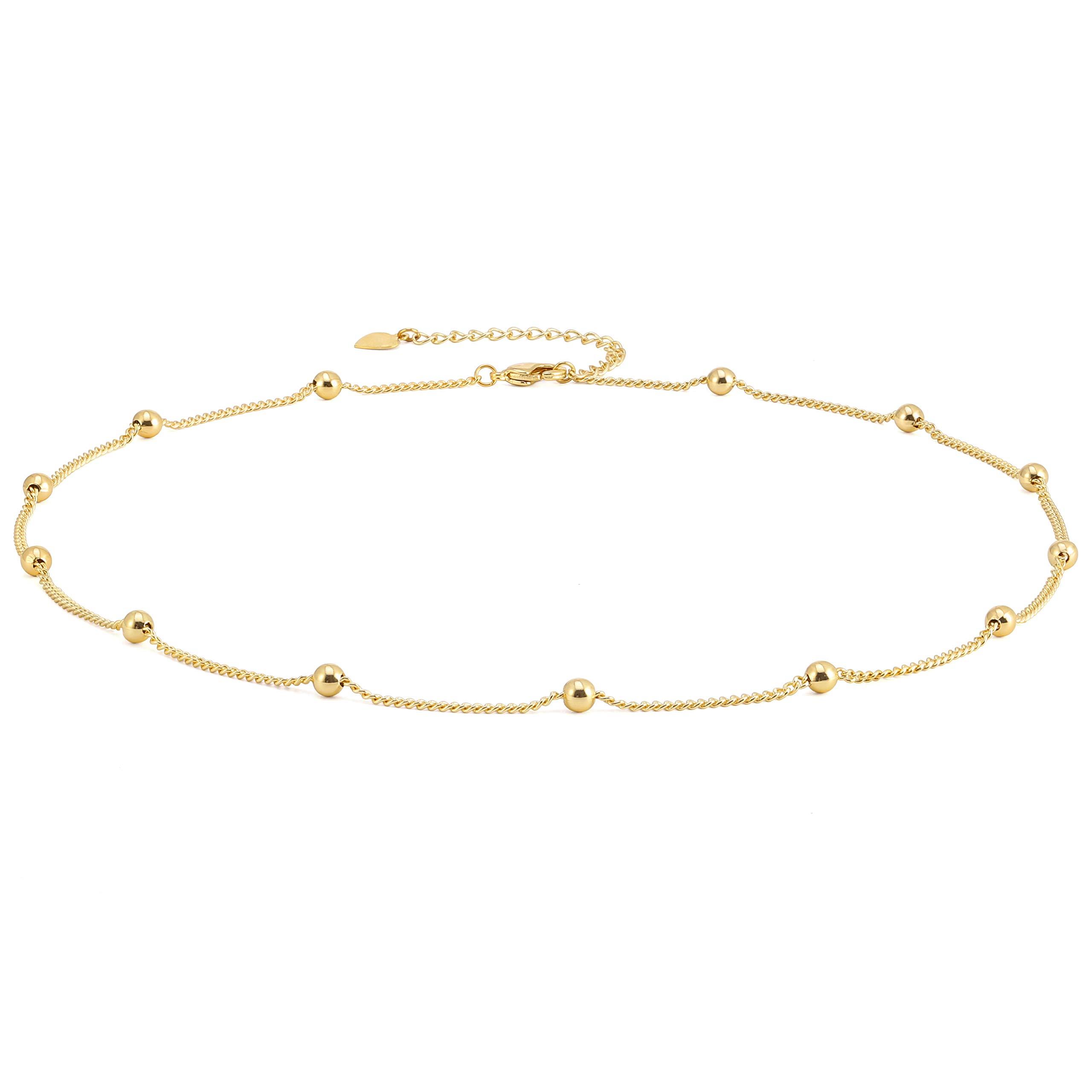 Satellite Chain Choker  Satellite Choker Necklace  Gold Satellite Necklace  Gold Satellite Choker  Gold Choker Necklace  Dainty Choker