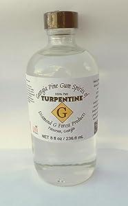 8 oz. 100% Pure Gum Spirits of Turpentine
