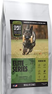 Elite Series Working Dog Turkey Formula, Grain and Peas Free Dry Dog Food, 30 lb. bag