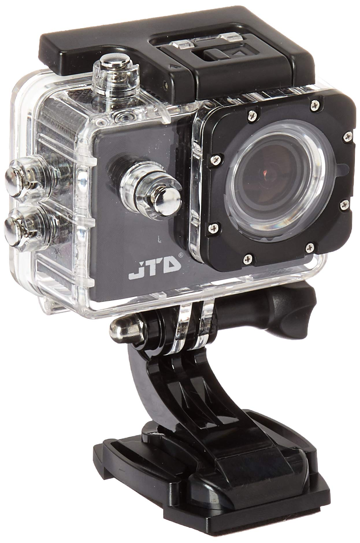 JTD J-EXP 2.0 Premium Sport DV Action Camera 12MP 1080P 170 Degree Angle Anti-Glare Coating Lens Sport Camera Waterproof Cam DV Camcorder Outdoor for Bicycle Motorcycle Diving Swimming (Black)